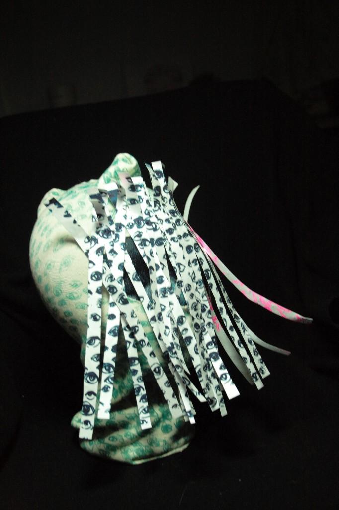 If You See Something Say Something (for Lygia Clark), 2009, Acrylic Mono-Screenprint on Cotton and Polyethlene Fiber.